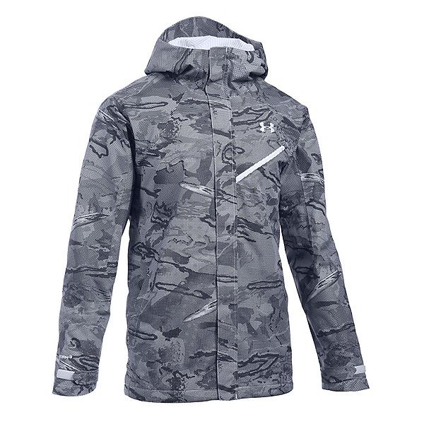 Under Armour ColdGear Infrared Powerline Mens Shell Ski Jacket, White-White-White, 600