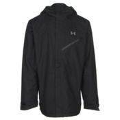 Under Armour ColdGear Infrared Powerline Mens Shell Ski Jacket, Black-Graphite-Steel, medium