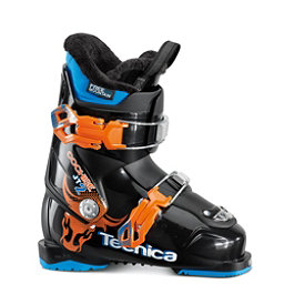 Tecnica JT 2 Cochise Kids Ski Boots 2017, Black-Orange, 256