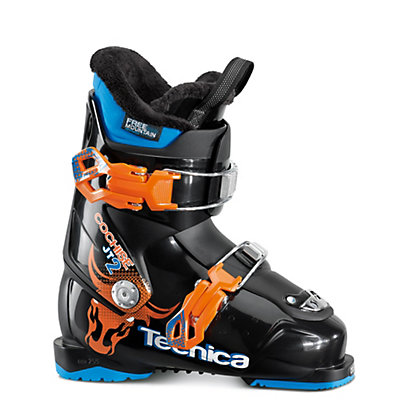 Tecnica JT 2 Cochise Kids Ski Boots 2017, Black-Orange, viewer