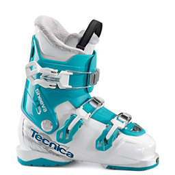 Tecnica JT 3 Sheeva Girls Ski Boots 2018, Bianco-Blue Bird, 256