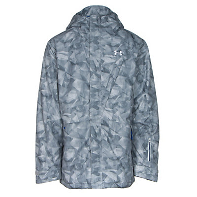 Under Armour ColdGear Infrared Timbr Mens Insulated Ski Jacket, Overcast Gray-Ultra Blue-Ultra Blue, viewer