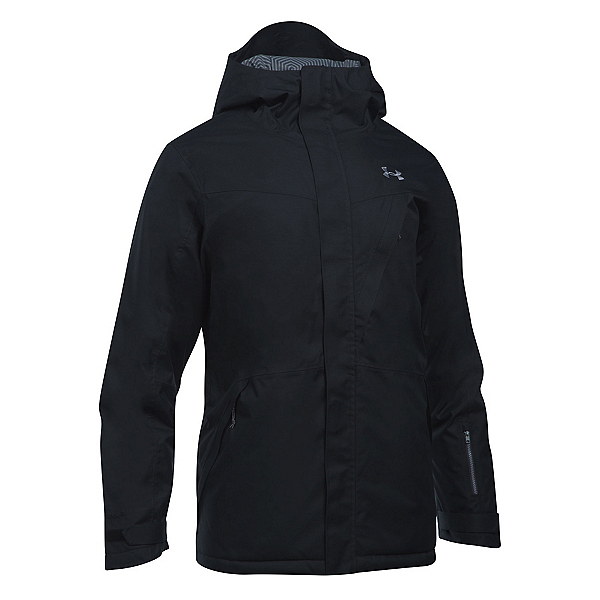 Under Armour ColdGear Infrared Timbr Mens Insulated Ski Jacket, Black-Graphite-Steel, 600