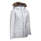 Under Armour ColdGear Infrared Kymera with Faux Fur Womens Insulated Ski Jacket, Glacier Gray-Glacier Gray-Steel, medium