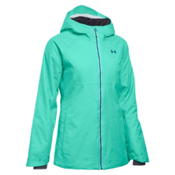Under Armour ColdGear Infrared Snowcrest Womens Insulated Ski Jacket, Crystal-Aqua Falls-Peacock, medium