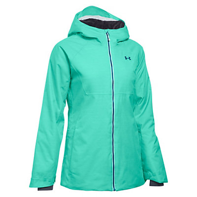 Under Armour ColdGear Infrared Snowcrest Womens Insulated Ski Jacket, Crystal-Aqua Falls-Peacock, viewer