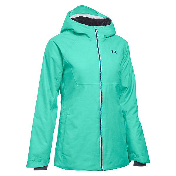 Under Armour ColdGear Infrared Snowcrest Womens Insulated Ski Jacket, Crystal-Aqua Falls-Peacock, 600