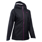 Under Armour ColdGear Infrared Snowcrest Womens Insulated Ski Jacket, Black-Glacier Gray-Magenta Shock, medium
