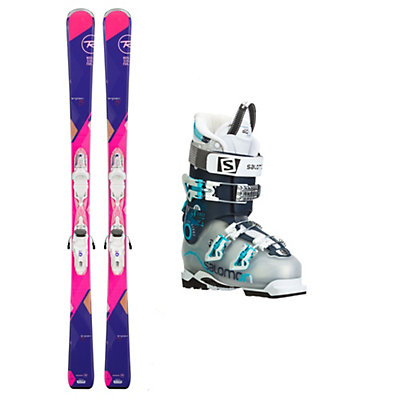 Rossignol Temptation 80 Quest Pro 80 Womens Ski Package, , viewer