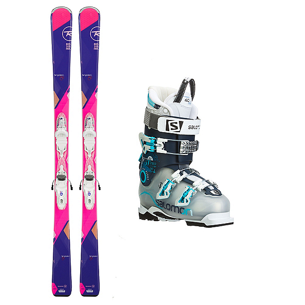 Rossignol Temptation 80 Quest Pro 80 Womens Ski Package, , 600