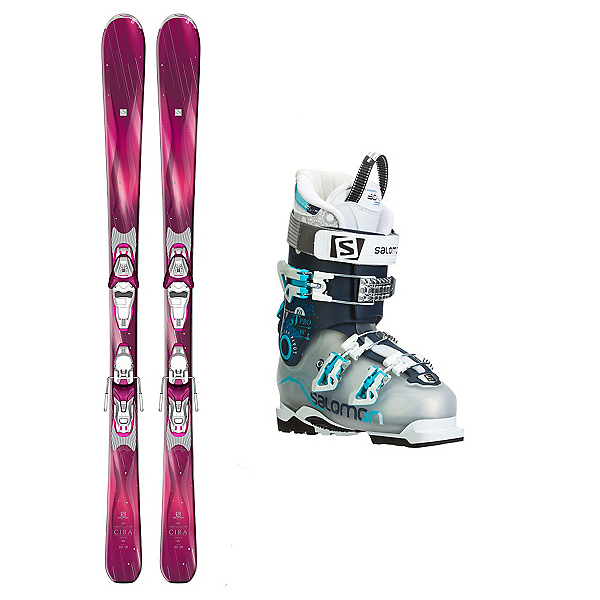 Salomon Cira Quest Pro 80 Womens Ski Package, , 600