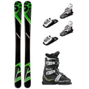 5th Element Green Machine Team T3 Kids Ski Package, , medium