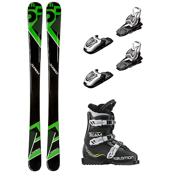 5th Element Green Machine Team T3 Kids Ski Package, , 600