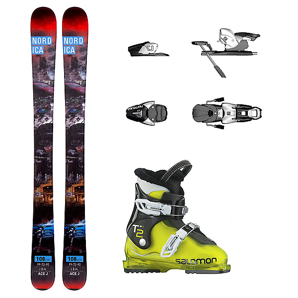 Nordica Ace T2 RT Kids Ski Package, , 600