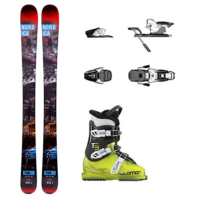 Nordica Ace T3 RT Kids Ski Package, , viewer