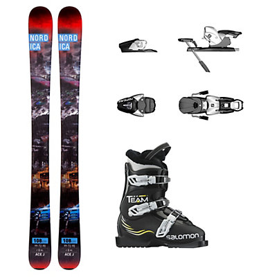 Nordica Ace Team T3 Kids Ski Package, , viewer