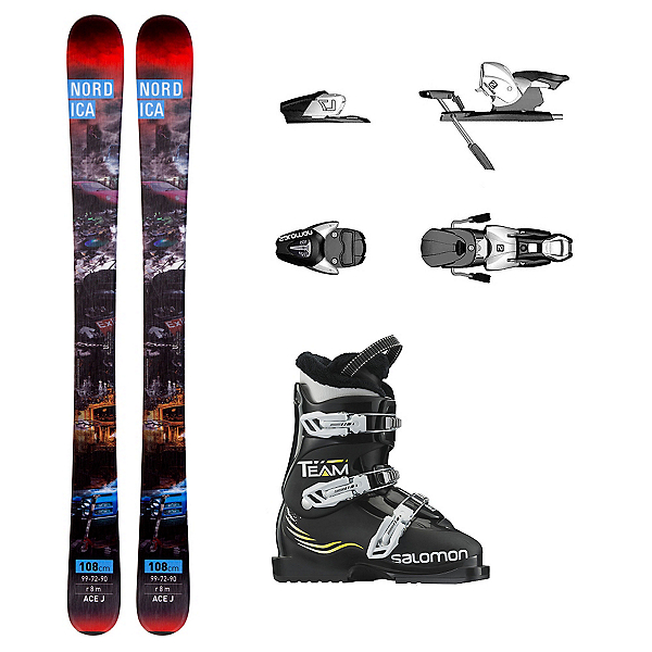 Nordica Ace Team T3 Kids Ski Package, , 600