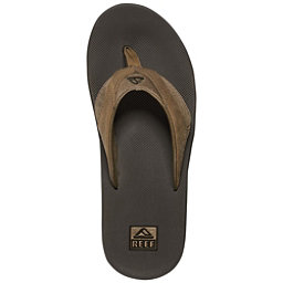 Reef Leather Fanning Mens Flip Flops, , 256