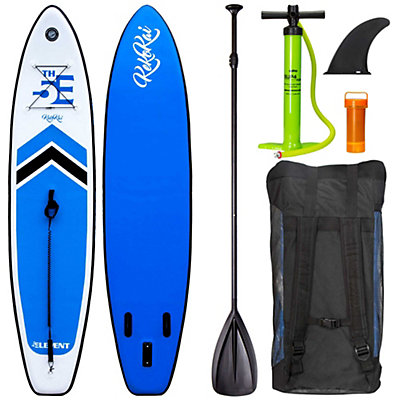 5th Element KekoKai 11ft Inflatable Stand Up Paddleboard, White-Blue, viewer