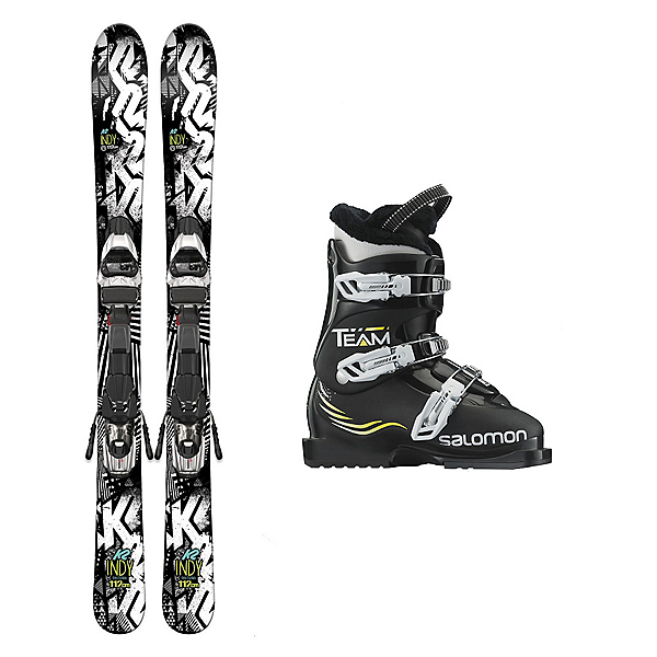 K2 Indy Team T3 Kids Ski Package 2017, , 600