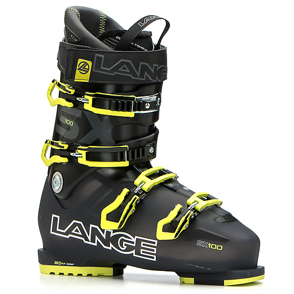 Lange SX 100 Ski Boots, Black-Yellow, 600