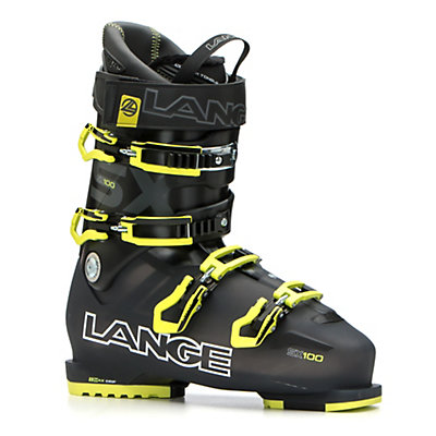 Lange SX 100 Ski Boots 2017, Black-Yellow, viewer