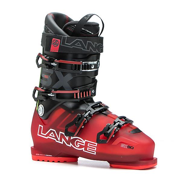 Lange SX 90 Ski Boots 2017, Transparent Red-Black, 600