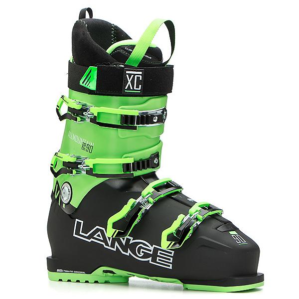 Lange XC 90 Ski Boots, Black-Green, 600