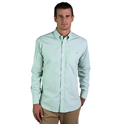 Fish Hippie Helton Gingham Mens Shirt, , viewer