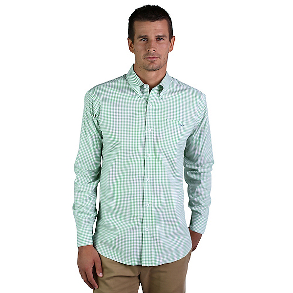 Fish Hippie Helton Gingham Mens Shirt, , 600