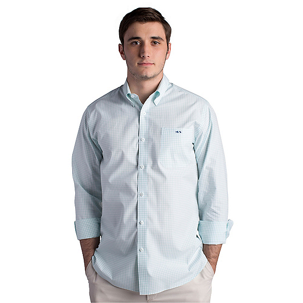 Fish Hippie Helton Gingham Slim Fit Mens Shirt, , 600