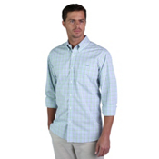 Fish Hippie Crawford Tattersall Mens Shirt, Crystal Blue, medium