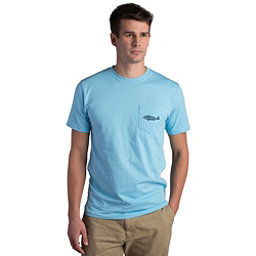 Fish Hippie Backwater Red Pocket Mens T-Shirt, Sky Blue, 256
