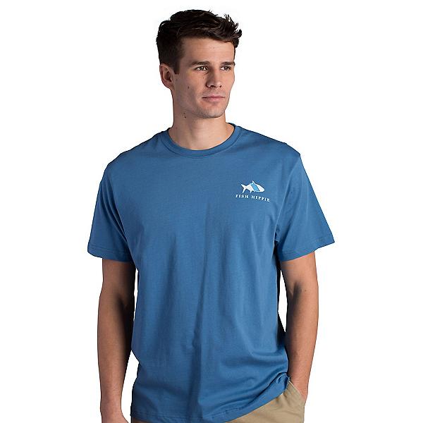 Fish Hippie Original Tarpon Mens T-Shirt, Slate, 600