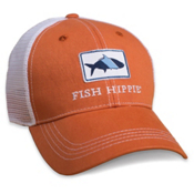 Fish Hippie Classic Trucker Hat, Orange, medium
