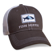 Fish Hippie Classic Trucker Hat, Graphite, medium