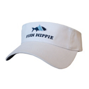 Fish Hippie Sort Visor, White, medium