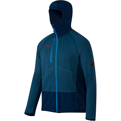 Mammut Aconcagua Pro Hooded Jacket Mens Mid Layer, Marine-Orion, viewer