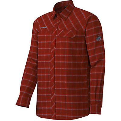 Mammut Trovat Advanced Mens Flannel Shirt, Maroon-Chill, viewer