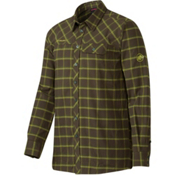 Mammut Trovat Advanced Flannel Shirt, Dark Flint-Seaweed, medium