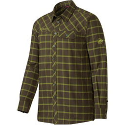 Mammut Trovat Advanced Mens Flannel Shirt, Dark Flint-Seaweed, 256