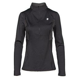 Orage Cozy Womens Long Underwear Top, Black, 256