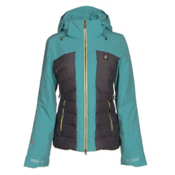 Orage Jasmine Womens Insulated Ski Jacket, Light Lagoon, medium