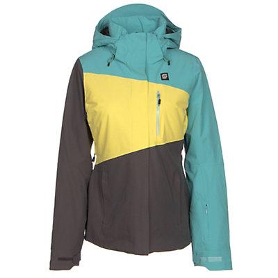 Orage Nina Womens Insulated Ski Jacket, Light Lagoon, viewer