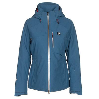 Orage Grace Womens Insulated Ski Jacket, Denim, viewer