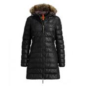 Parajumpers Demi Leather Womens Jacket, Black, medium