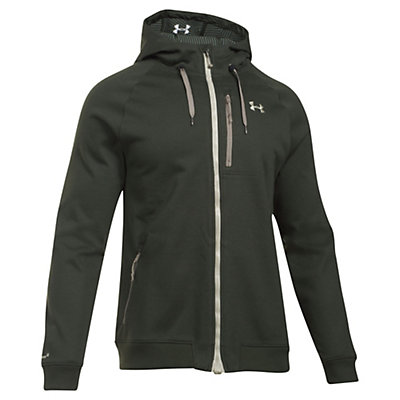 Under Armour ColdGear Infrared Dobson Soft Shell Jacket, Artillery Green-Graystone, viewer