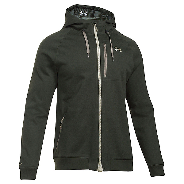 Under Armour ColdGear Infrared Dobson Mens Soft Shell Jacket, Artillery Green-Graystone, 600