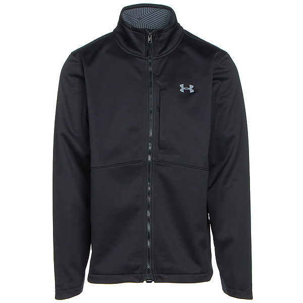 Under Armour ColdGear Infrared Softershell Mens Soft Shell Jacket, Black-Steel, 600