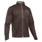 Under Armour ColdGear Infrared Softershell Mens Soft Shell Jacket, Maverick Brown-Graystone, medium